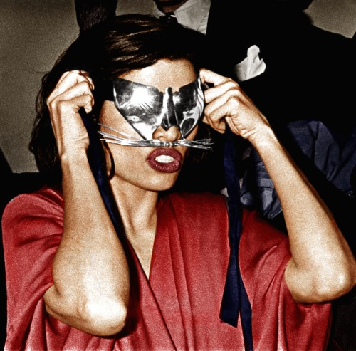 Bianca Jagger with Mask at Studio 54