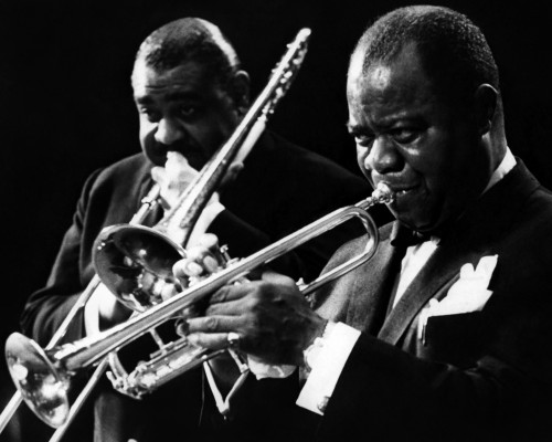 Louis Armstrong Performing