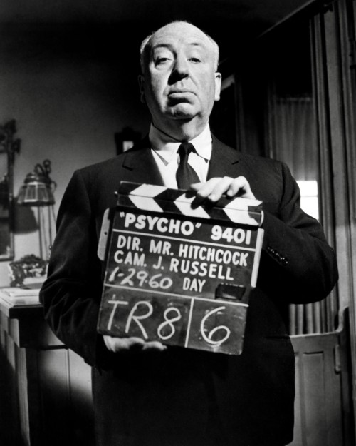 """Hitchcock on the Set of """"Psycho"""""""