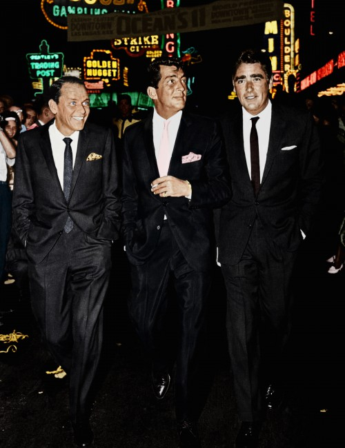 """Frank Sinatra, Dean Martin, and Peter Lawford in Vegas for """"Ocean's Eleven"""" Premiere"""