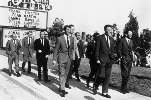 The Rat Pack Walking at The Sands