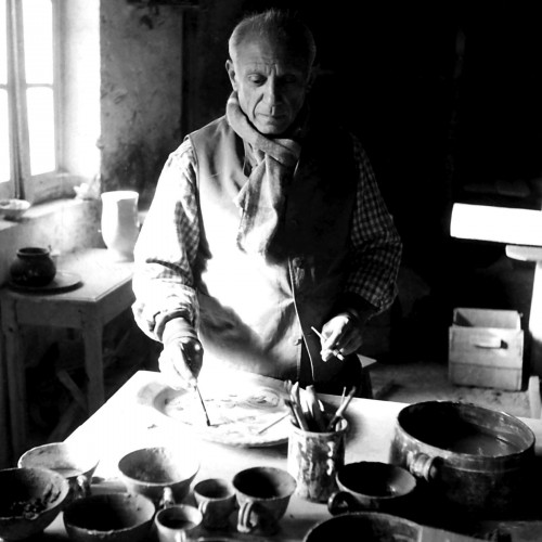Picasso in his Atelier