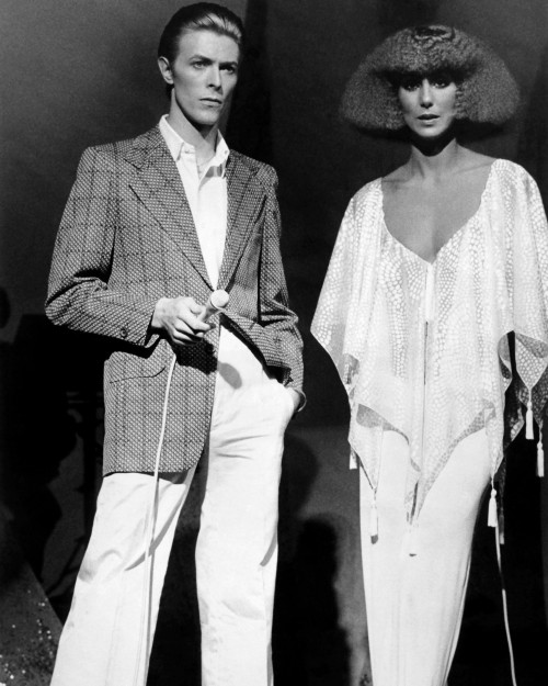 David Bowie and Cher: Fashion Icons of the Age