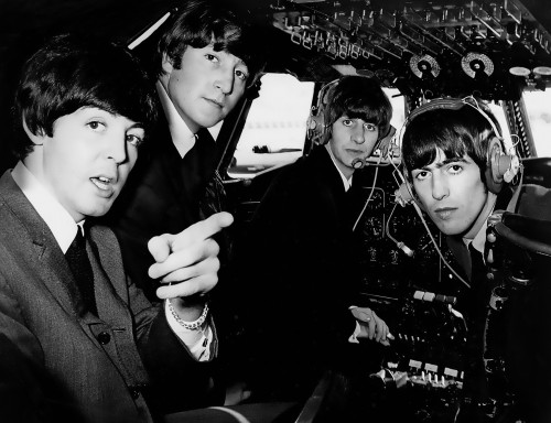 The Beatles in a Cockpit