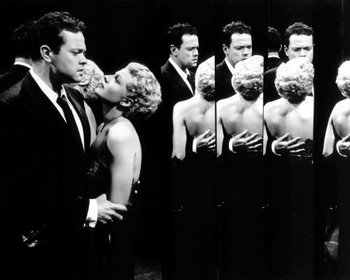 """Orson Welles and Rita Hayworth in """"The Lady from Shanghai"""""""