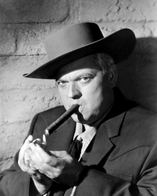 Iconic Orson Welles Posed Smoking Cigar