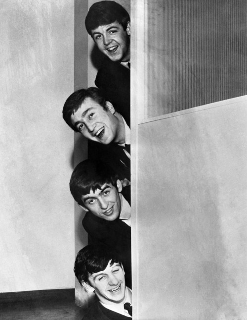 The Beatles Playing Peek-A-Boo