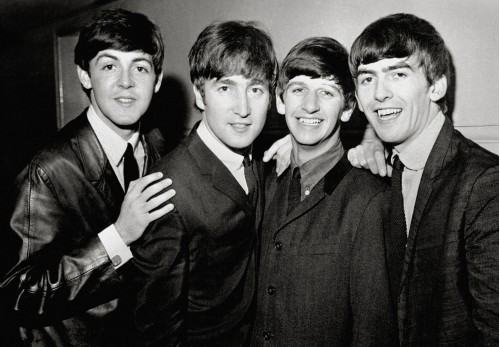 The Beatles Posed Smiling