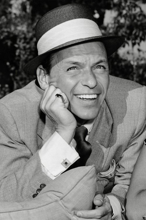 Frank Sinatra Laughing Outdoors