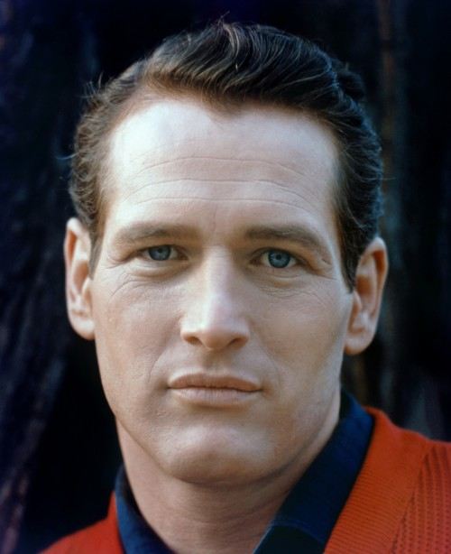 Paul Newman Closeup in Stunning Color