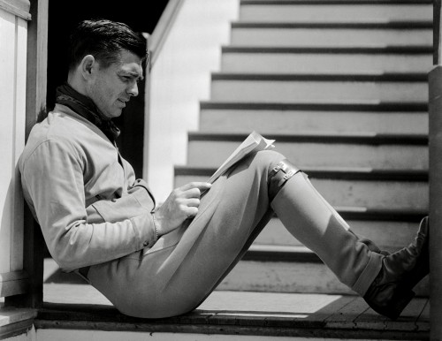 Clark Gable Reclining and Reading