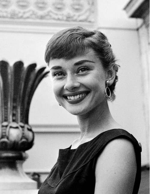 Audrey Hepburn Candid and Smiling