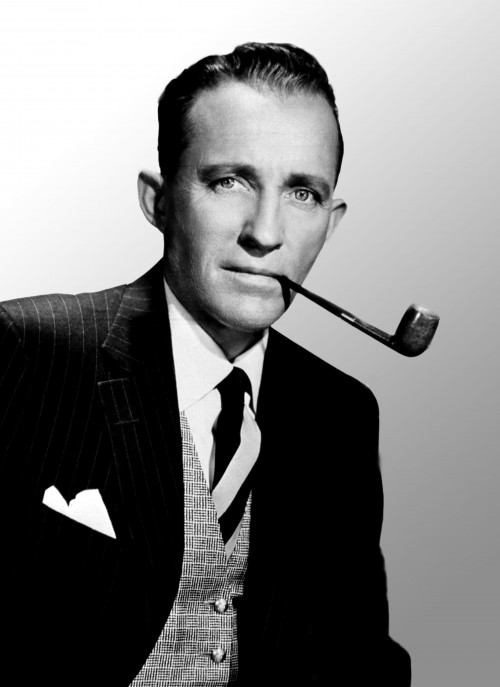 Bing Crosby Posed with Pipe