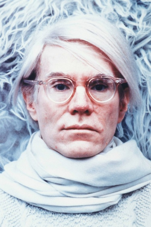 Andy Warhol on White