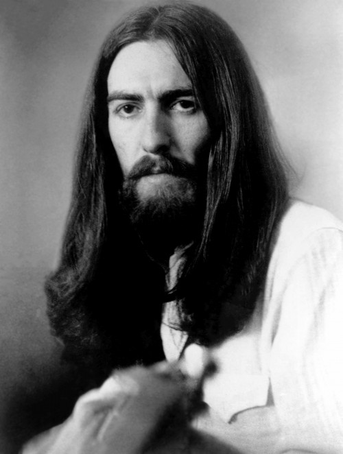 George Harrison with Long Hair