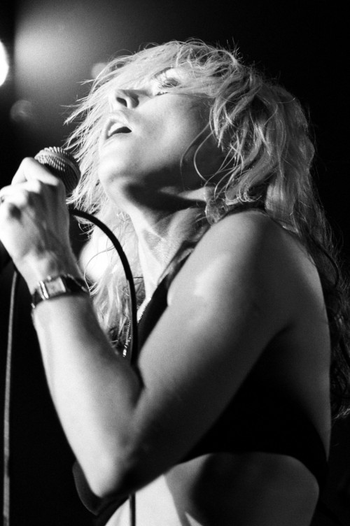Debbie Harry of Blondie Rocking Out on Stage