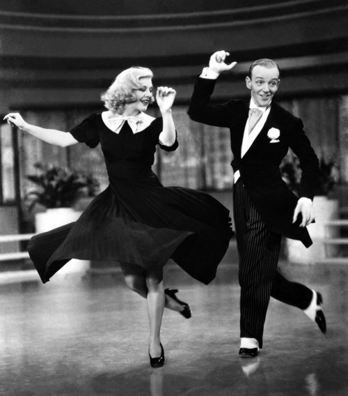 """Fred Astaire and Ginger Rogers  in """"Swing Time"""""""