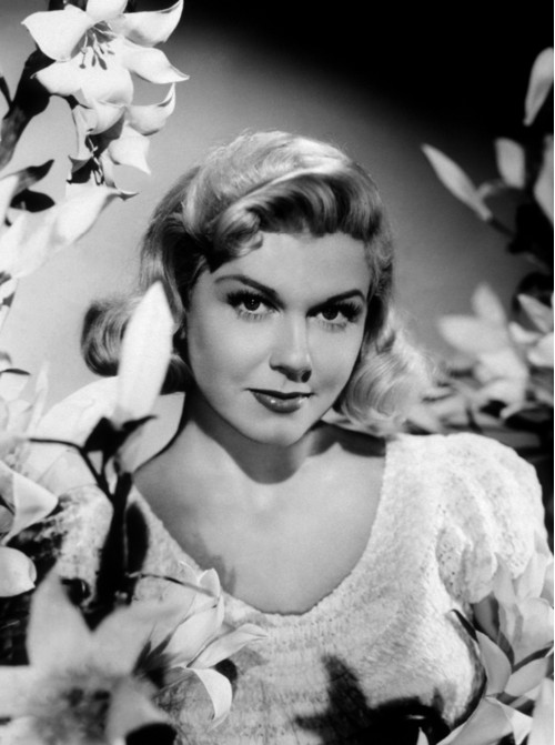 Doris Day with Flowers
