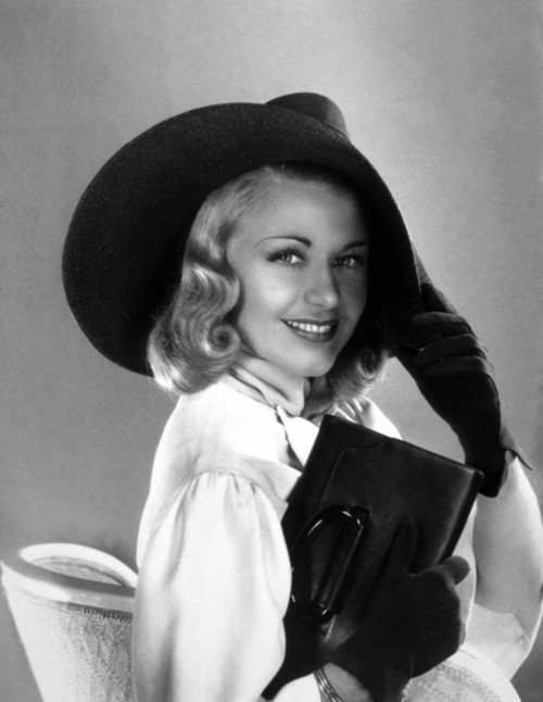 Ginger Rogers Glamour Portrait in Hat
