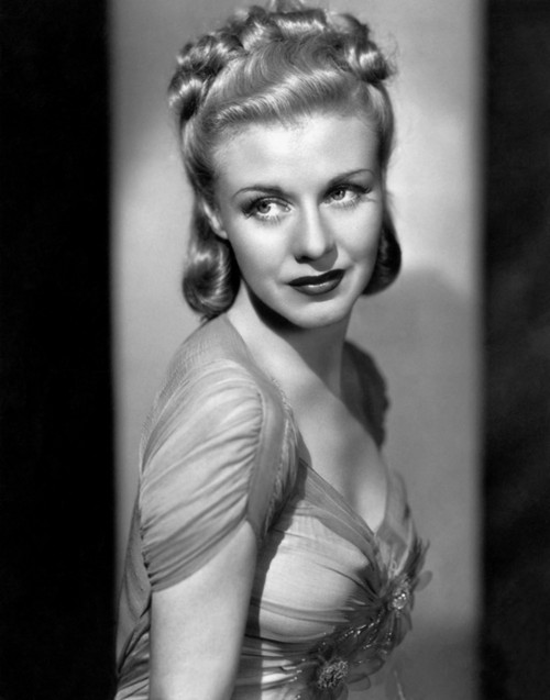 Ginger Rogers Glamour Portrait in the Studio