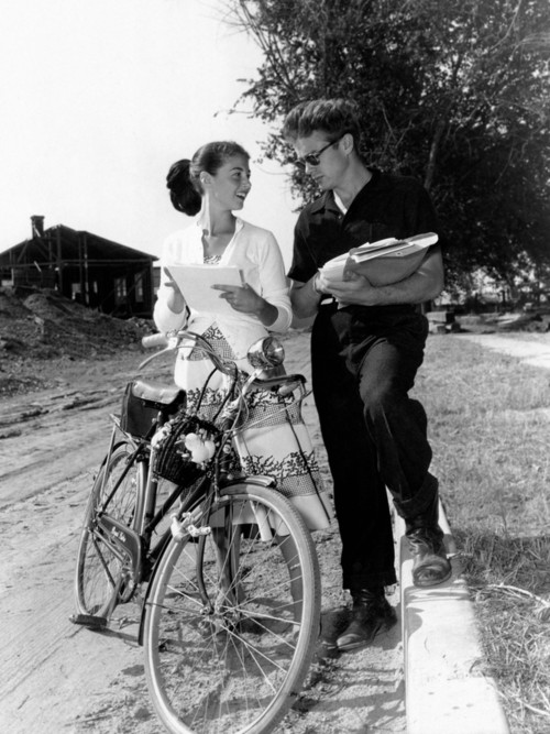 Pier Angeli and James Dean on a Stroll