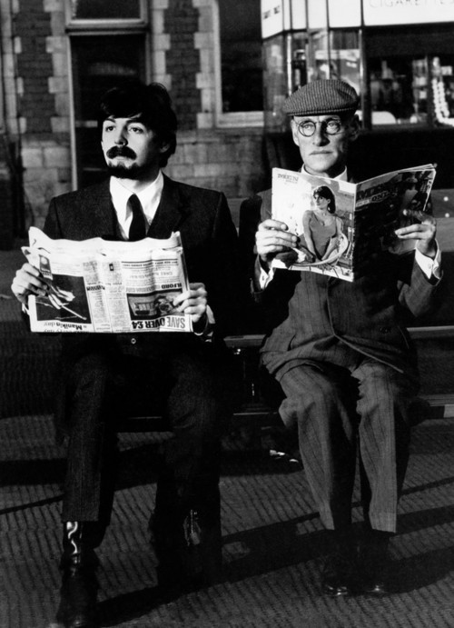 """Paul McCartney and Wilfred Brambell in """"A Hard Day's Night"""""""