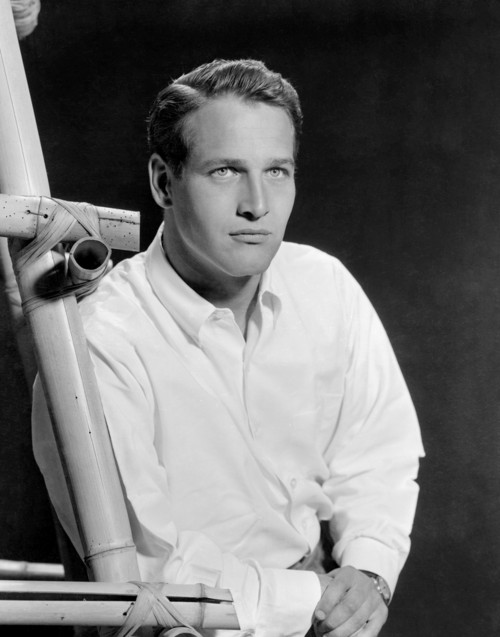Paul Newman Looking Up in the Studio
