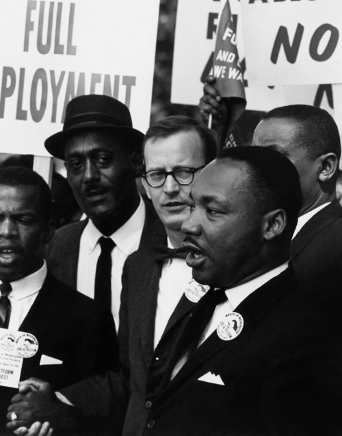 Martin Luther King, Jr. at Civil Rights March