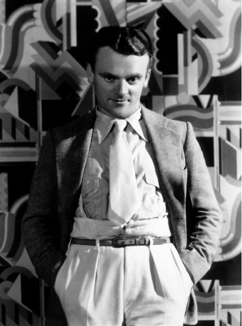 James Cagney Posed on Mod Background