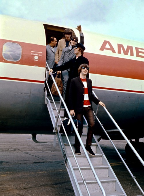 The Beatles on the Tarmac