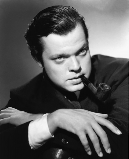 Orson Welles Dramatic Portrait with Pipe II