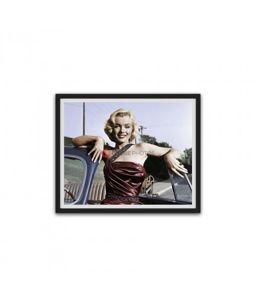 """Marilyn Monroe with Classic Roadster for """"How to Marry a Millionaire"""""""