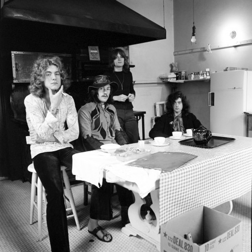 Led Zeppelin Sitting at a Kitchen Table