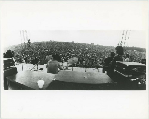 1969 Woodstock Festival Candid Photo Onstage