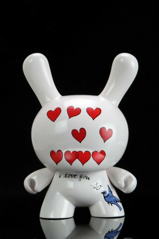 """Andy Warhol Foundations Kid Robot """"I Love You So"""" Dunny"""