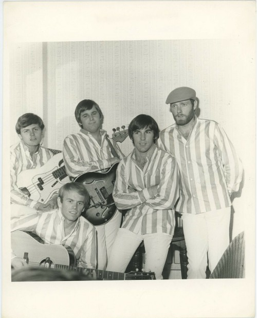Beach Boys Black and White Band Portrait Circa 1960's