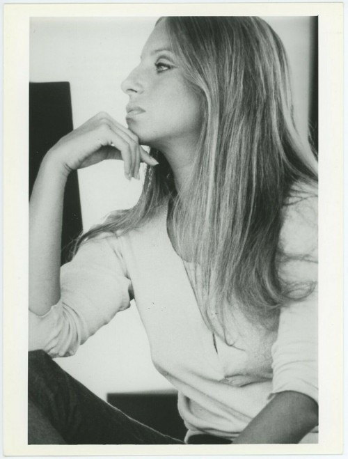Barbara Streisand Black and White Portrait 1970's